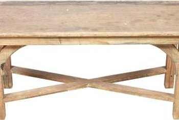 Make a rustic table the centerpiece of your farmhouse dining room.