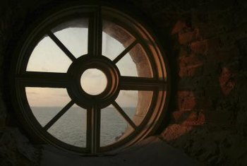 Round windows are beautiful, but can be problematic to cover.