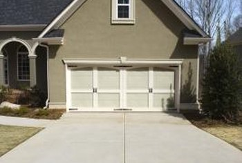 A broom finish provides a nonslip concrete driveway.
