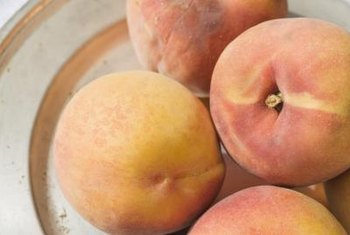 "Under-ripe ""Redskin"" peaches will soften after a few days."