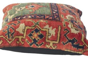 An earth-toned kilim pillow provides a colorful, patterned accent.