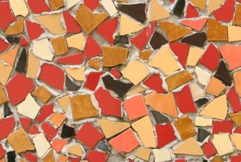 Mosaic tiles may lend an outdated look to interior decor.