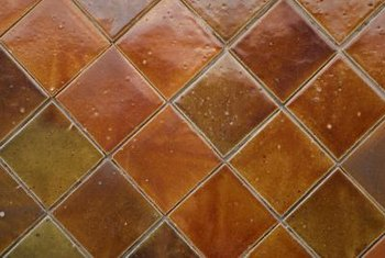 Tile in a diamond pattern has more drama than straight tile