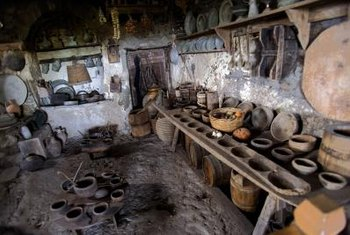 A millennia-old Greek monastery in Athens houses kitchenware still styled like that of ancient Greece.
