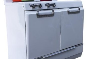 The porcelain enamel coating is baked on to the metal stove housing.
