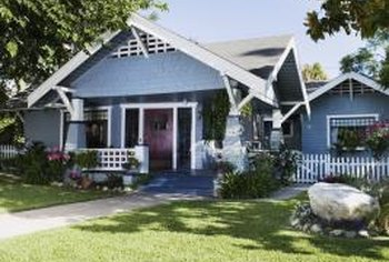 Craftsman style exteriors incorporate natural materials and intricate woodwork.