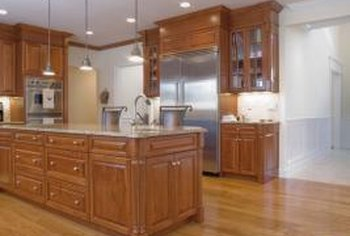 White Kitchen Oak Cabinets how to decorate a kitchen with white appliances & oak cabinets