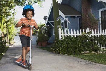 A driveway guard protects kids from accidentally going into the street.