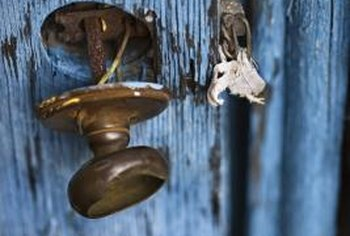 Damaged brass doorknobs can be replaced in just a few minutes.