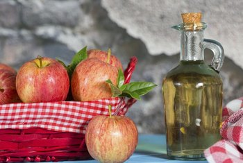Vinegar is made by additional fermentation of the alcohols produced when making apple cider.