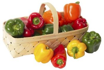 Bell peppers are now available in a wide variety of colors.