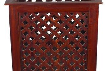 Lattice sheets attached to a deck rail can add privacy.
