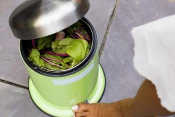 Keep a small bin in your kitchen for food scraps.