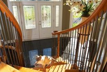 Use real wood to repair cracked stairs.