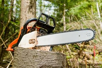 Chain saws have fuel systems similar to other gas-powered garden tools.