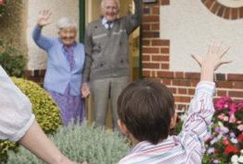Elderly housing often is free of front steps.