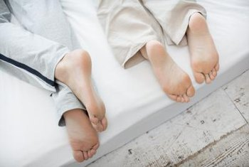 California king mattresses keep feet from hanging off the edge.