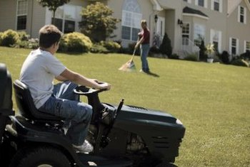 If you need additional light when mowing, mount an aftermarket light to the mower.