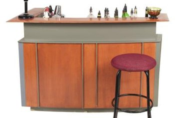 A bar area can be the conversation center.