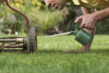 Vary the direction of mowing each time and do not mow a wet lawn.