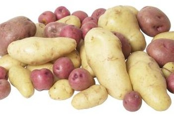 Potatoes are available in white, yellow, red and blue varieties.