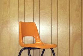 Lose the retro look. Try fabric on paneling.