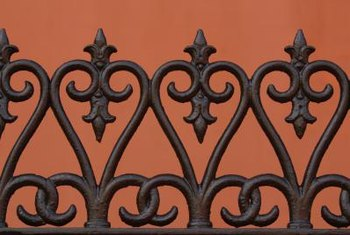Decorative wrought iron can be easily repaired.