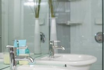Mildew commonly occurs in bathrooms.