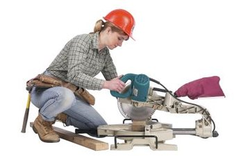 Miter saws can cut tile as well as wood with the proper blades.