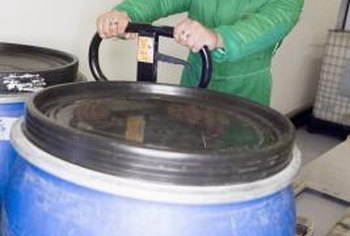 Use reconditioned 55-gallon food-grade drums for rainwater receptacles to reduce leaking and other pressure-based damage.
