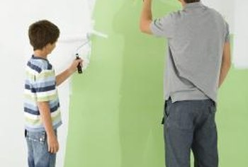 Painting textured walls gives them a fresh, new look.