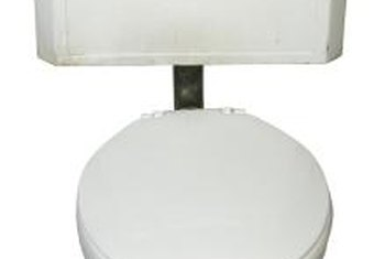 A gravity-flow toilet operates with a lift chain connected to the handle and flapper inside the tank.