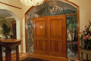 Sidelights give a front door emphasis and bring light into the foyer.