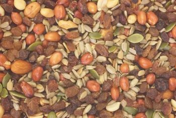 Walnuts, almonds, flaxseeds and sunflower seeds are healthy nuts and seeds.