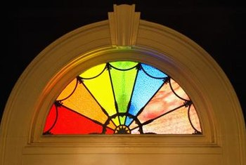 Stained glass provides privacy while still allowing light into a room.