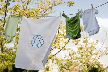 There are many ways to use recycled items in clothing.