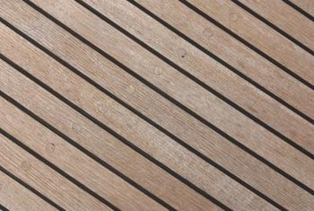 Teak flooring is a strong, durable option.