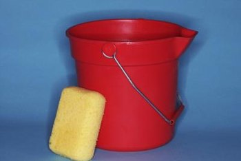 Use separate buckets for cleaning and rinsing.