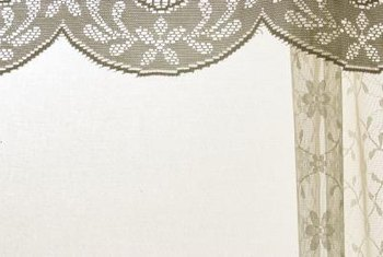 Lace is one of the many fabric choices for making a valance.
