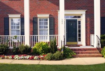 A landscaped sidewalk can add color and interest to your home.