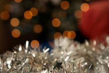 Trim your holiday home with touches of sparkly tinsel.