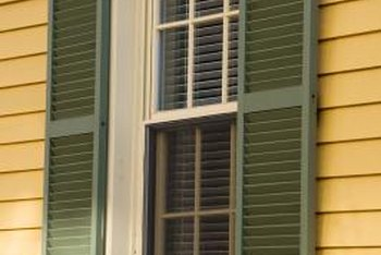 Shutters use plastic pins for installation.