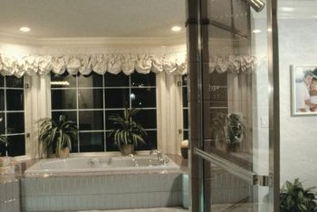 Continental rods help create decorative valances.