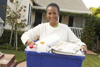 Many curbside programs allow you to recycle paper and plastic in the same bin.