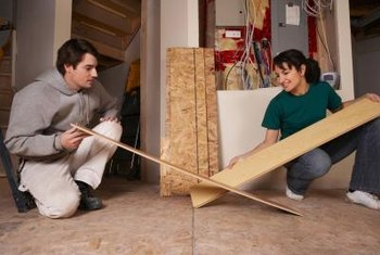 Straight edges are easy to cut and fit together when installing laminate flooring.