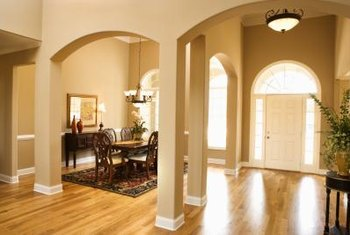 Create the idea of a room with pillars.