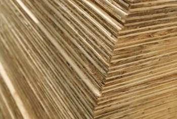 The lamination layers in plywood are usually bonded with urea formaldehyde glue.