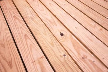 Clear coats provide a protective coating while maintaining the look of natural wood.