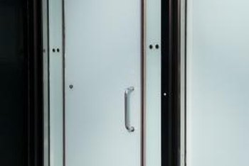 Offset pivots are common on glass and aluminum entry doors but can also be used on wood or metal doors.
