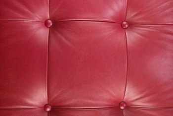 Leather sofas are available in assorted shades of red.